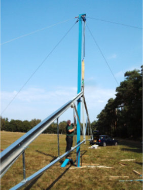 An erection pole was supplied by REIDsteel to allow the steel frames
